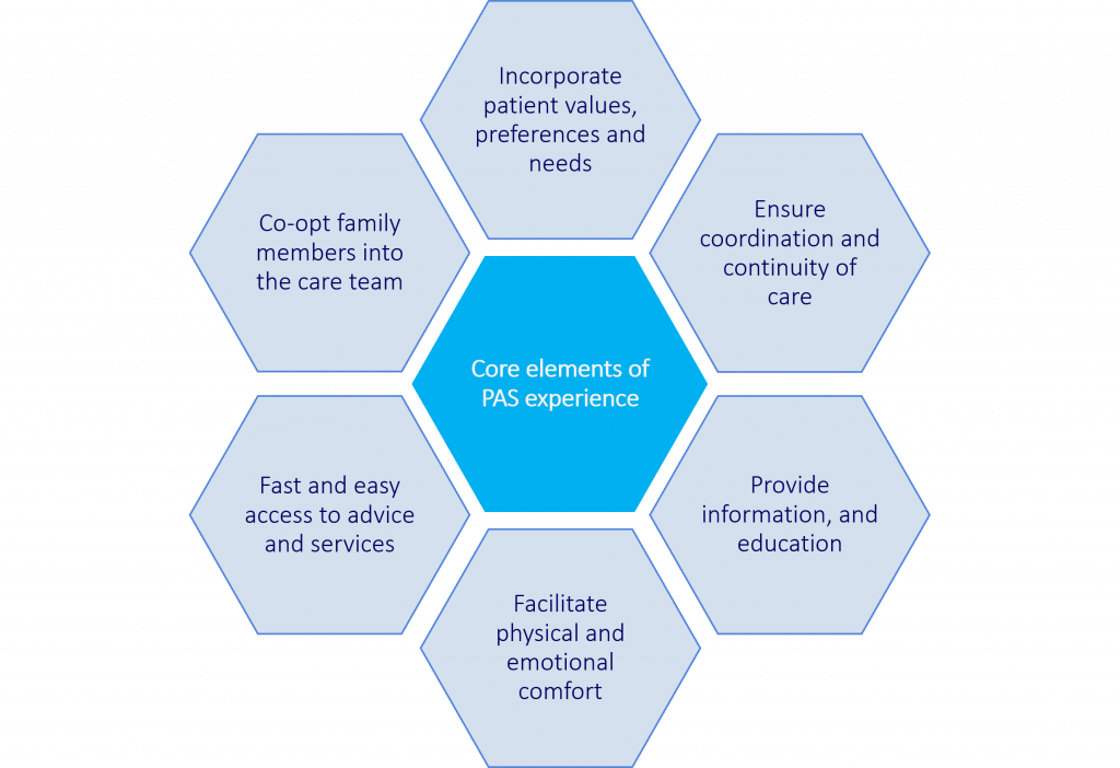 Core elements of designing the PAS experience
