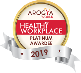 Persistent Systems receives 2019 Arogya World Healthy Workplace Platinum Award