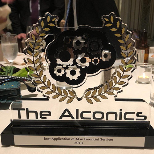 AIconics award in 'Best AI Solution for Finance'