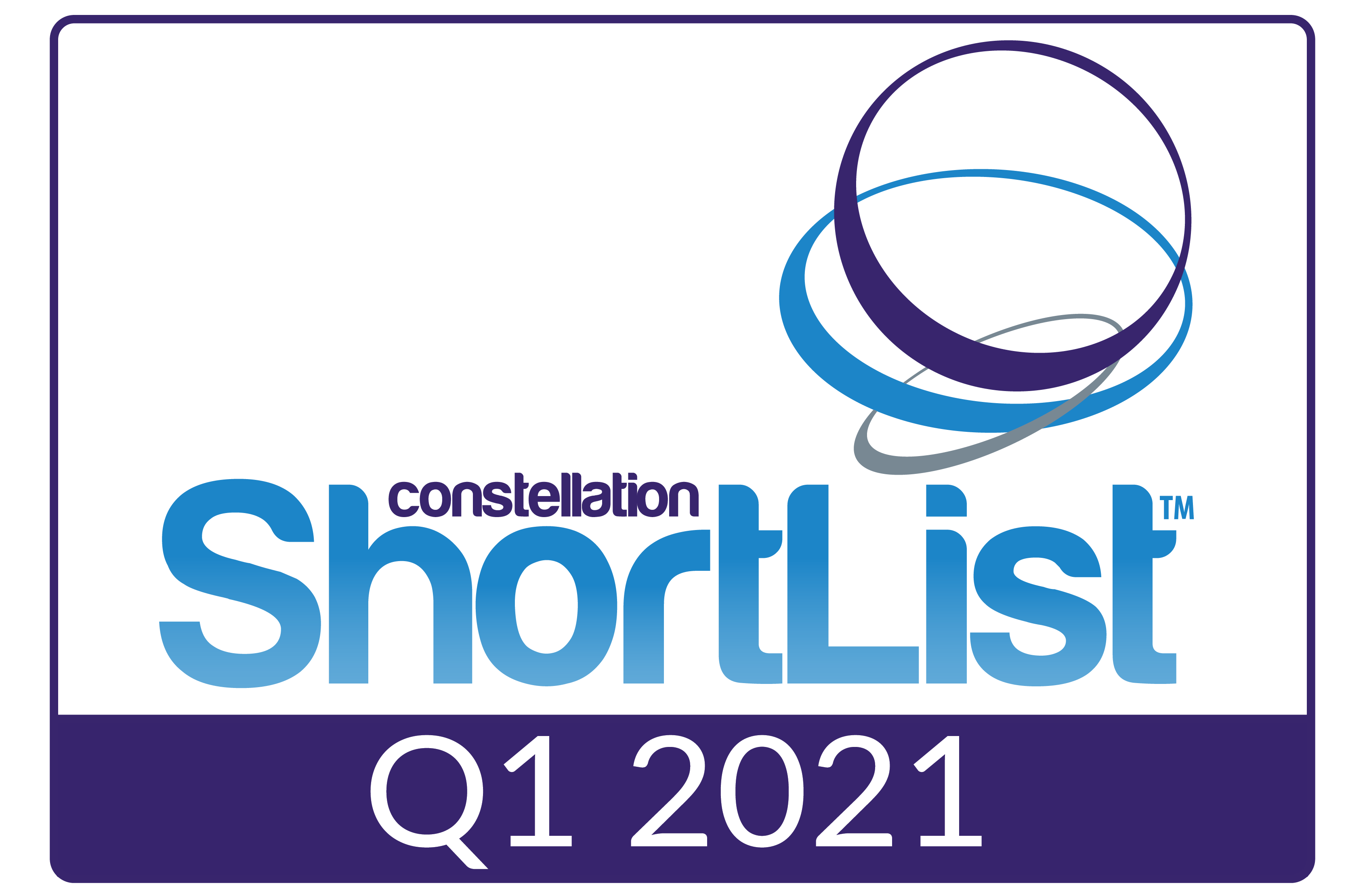 Badge - Constellation Research ShortList™ Q1 2021 Badge